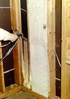 spray foam insulation vertical