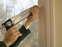 air sealing with calk gun